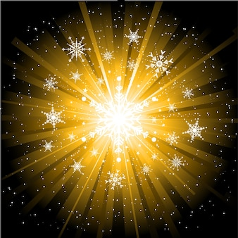 Płatki śniegu i gwiazdy boże narodzenie