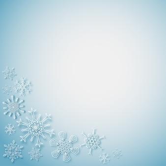 Płatki śniegu w rogach