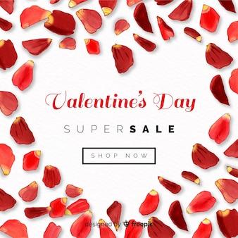 Płatki valentine sprzedaży tła