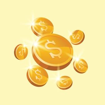 Płatnicza pieniądze monety ilustracja