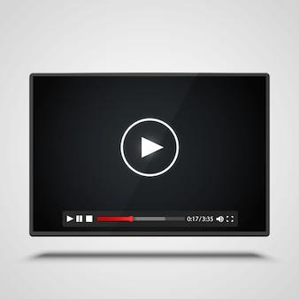 Płatnik rama wideo na białym tle. ilustracja wektorowa