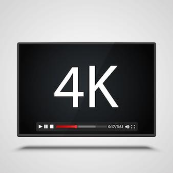 Płatnik wideo 4k ramki na białym tle. ilustracja wektorowa