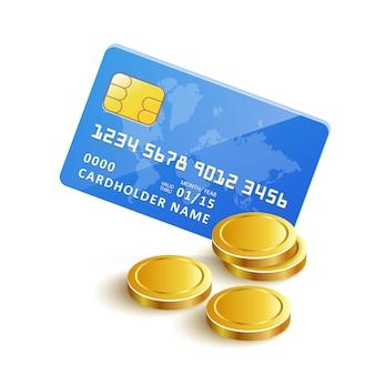 Płatność kartą kredytową złote monety