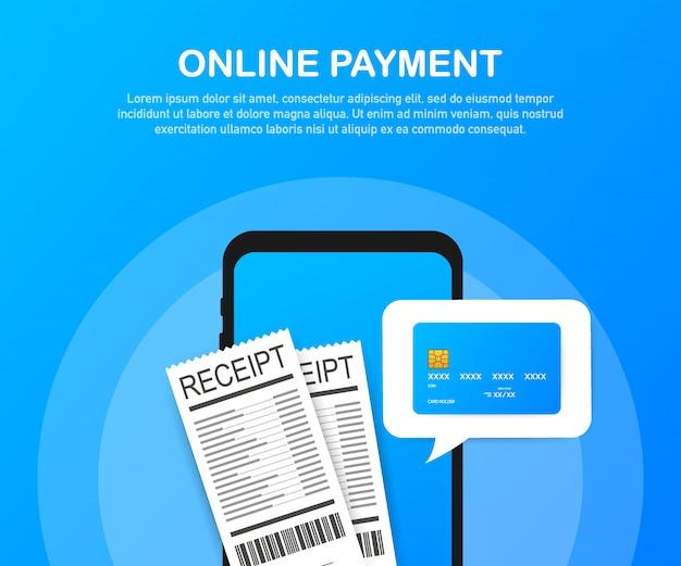 Płatność online na komputerze. rachunkowość finansowa, elektroniczne powiadomienie o płatności.