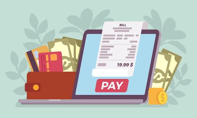 Płatność online za cyfrowy rachunek