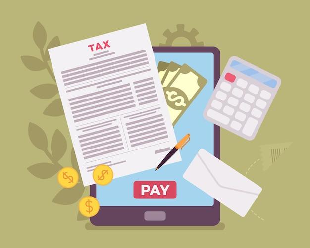 Płatność podatku online za pomocą tabletu
