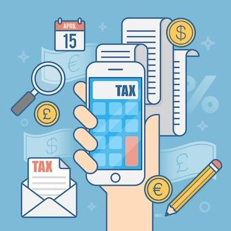 Płatność podatku.