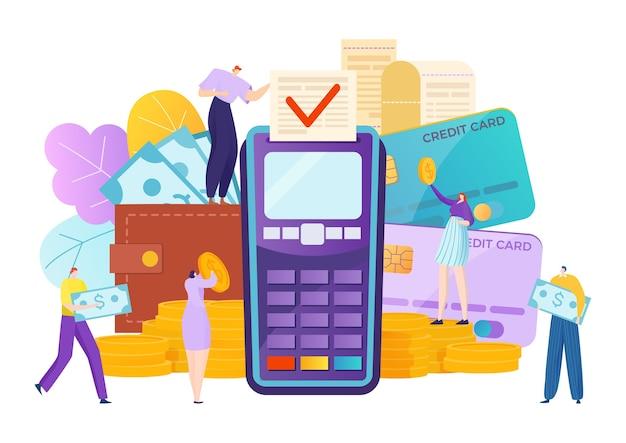 Płatność transakcyjna na ilustracji bankowej
