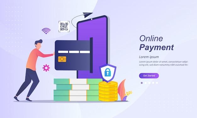 Płatności mobilne online lub przelew pieniędzy