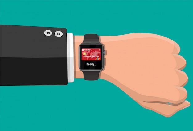 Płatności zbliżeniowe smart watch.