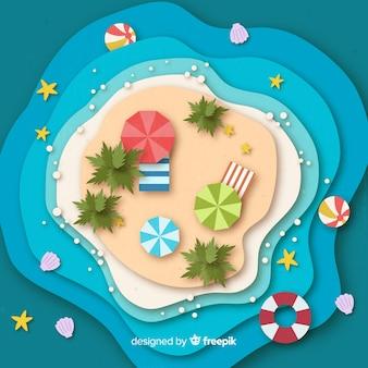 Plaża w stylu papieru