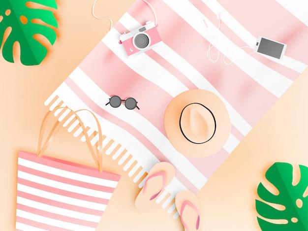 Plażowy styl papieru w pastelowym kolorze