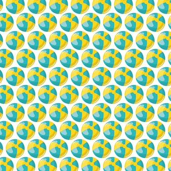 Plażowy wzór plastikowych balonów