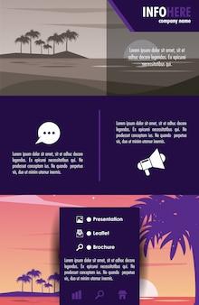 Plaży i podróży broszura plansza