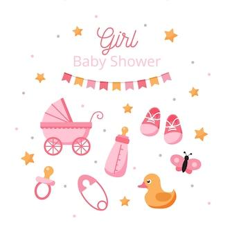 Płeć baby shower ujawnia dla dziewczynki