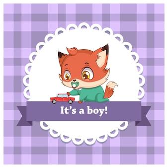 Płeć dziecka ujawnia się dla chłopca