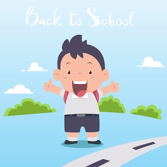 Plecak i wspólne chodzenie do szkoły