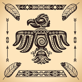 Plemienny amerykański orzeł znak