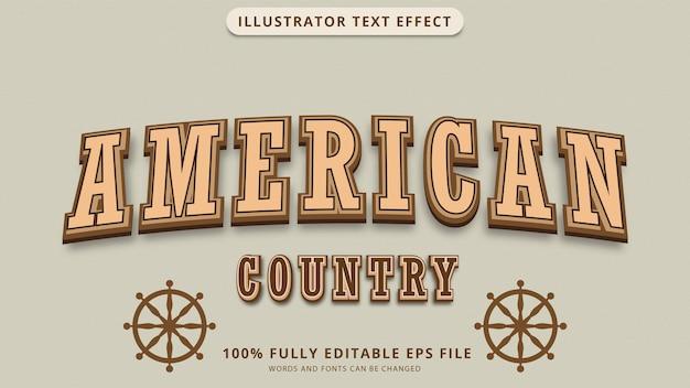Plik eps z efektem tekstowym w ameryce