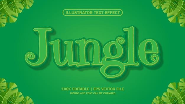 Plik eps z efektem tekstowym w dżungli premium