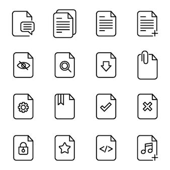 Pliki ikona paczka ikon, styl ikony konspektu
