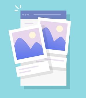 Pliki zdjęć i przechowywanie zdjęć aplikacja mobilna online dla telefonu lub galerii zdjęć z albumu fotografii cyfrowej