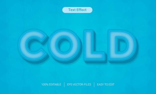 Plików eps efektu stylu tekst zimno