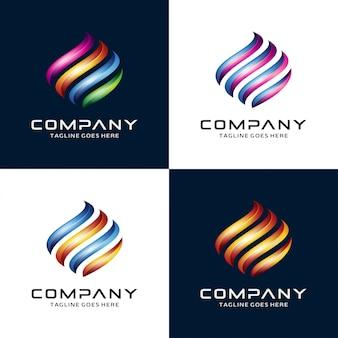Płomień 3d, Logo Ognia Premium Wektorów
