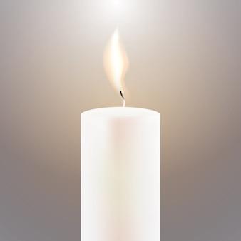 Płomień świecy.