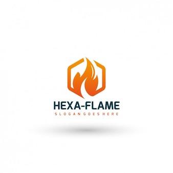 Płomień szablon logo firmy