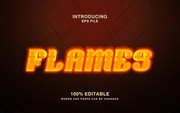 Płomienie - efekt tekstowy gorącego ognia