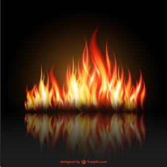 Płomienie ognia ilustracji