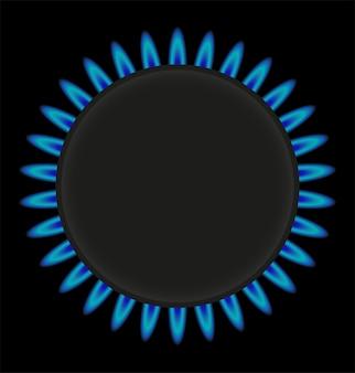 Płonąca gazowa ringowa piecowa wektorowa ilustracja
