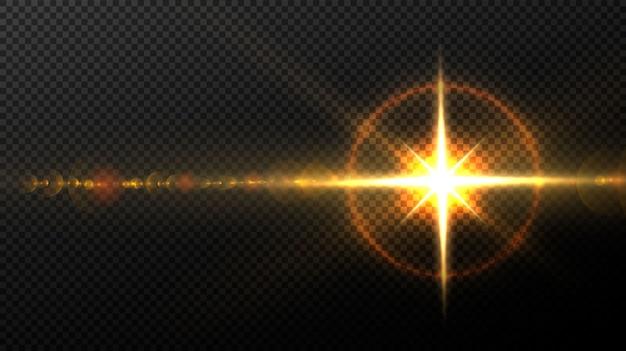 Płonąca gwiazda na czarnym tle
