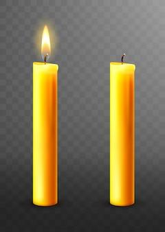 Płonąca, zgaszona świeca