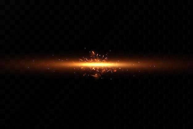 Płonące ogniste iskry na czarnym tle