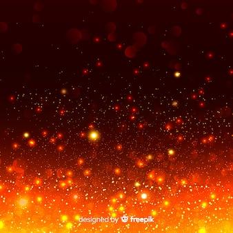 Płonące tło