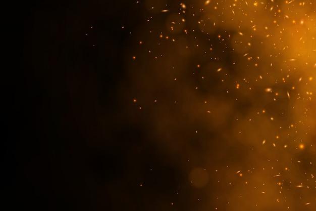Płonący czerwony wektorowy embers tło