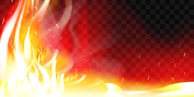 Płonący płomień ognia. palić i gorąco, ciepło i ciepło, energia łatwopalna, płonąca ilustracja wektorowa