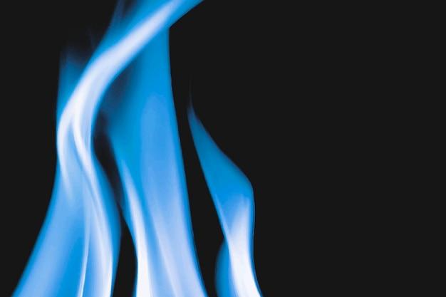 Płonący płomień tło, granica ognia realistyczny wektor czarny obraz