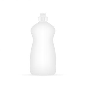 Płyn do mycia naczyń. czyszczenie butelki na białym tle