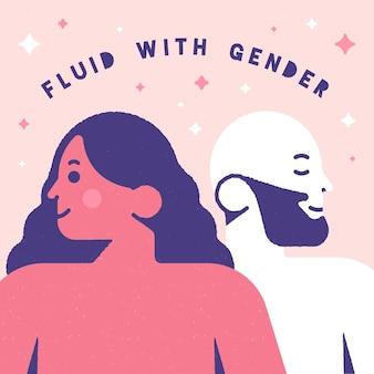 Płyn z ruchem neutralnym pod względem płci
