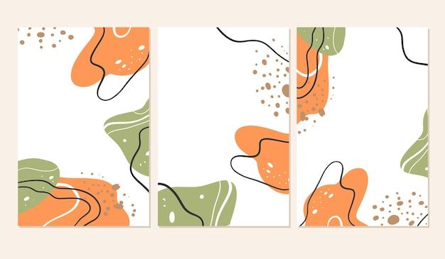 Płynące abstrakcyjne kształty pokrywają.