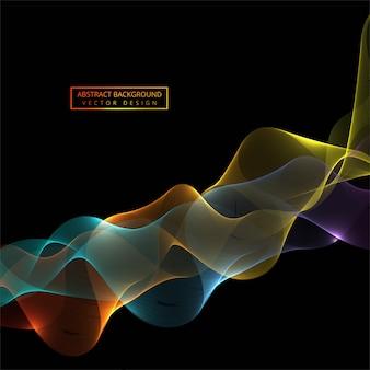Płynący kolorowy stylowy błyszczący fala tło