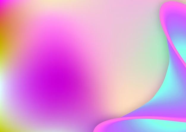 Płynna dynamika. żywa siatka gradientu. holograficzne