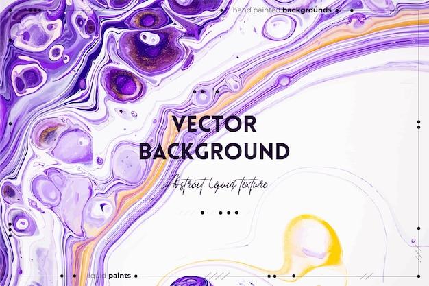 Płynna konsystencja. abstrakcyjny efekt mieszania farby. płynny akryl z pięknymi mieszanymi farbami.