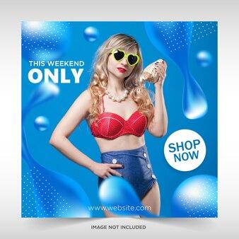 Płynna sprzedaż banner web media społecznościowe