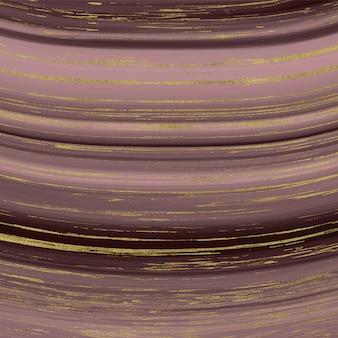 Płynna tekstura marmuru. różowe złoto i złoty brokat tusz malarstwo abstrakcyjny wzór.