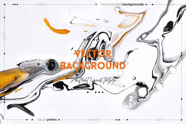 Płynna tekstura sztuki abstrakcyjne tło z opalizującym efektem farby płynna akrylowa grafika z pięknymi...