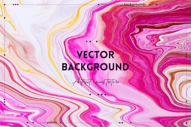 Płynna tekstura sztuki abstrakcyjne tło z opalizującym efektem farby płynna akrylowa grafika z...